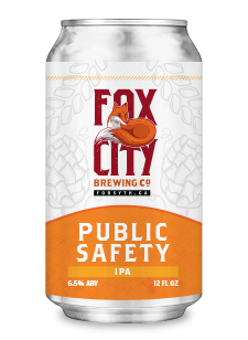 fox city public safety beer can